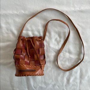 🔵Leather Bucket Bag